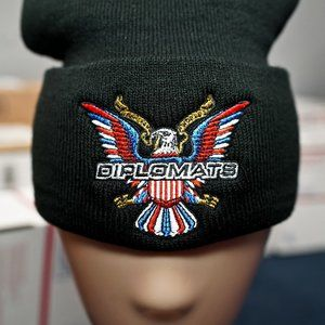 Diplomats Logo, Rocafella, Embroidered Beanie Hat